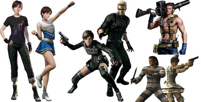 Resident Evil 0 HD Remaster Unlockable Costumes