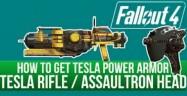 Fallout 4 Automatron Tesla Rifle, Salvaged Assaultron Head, Tesla Power Armor Locations Guide