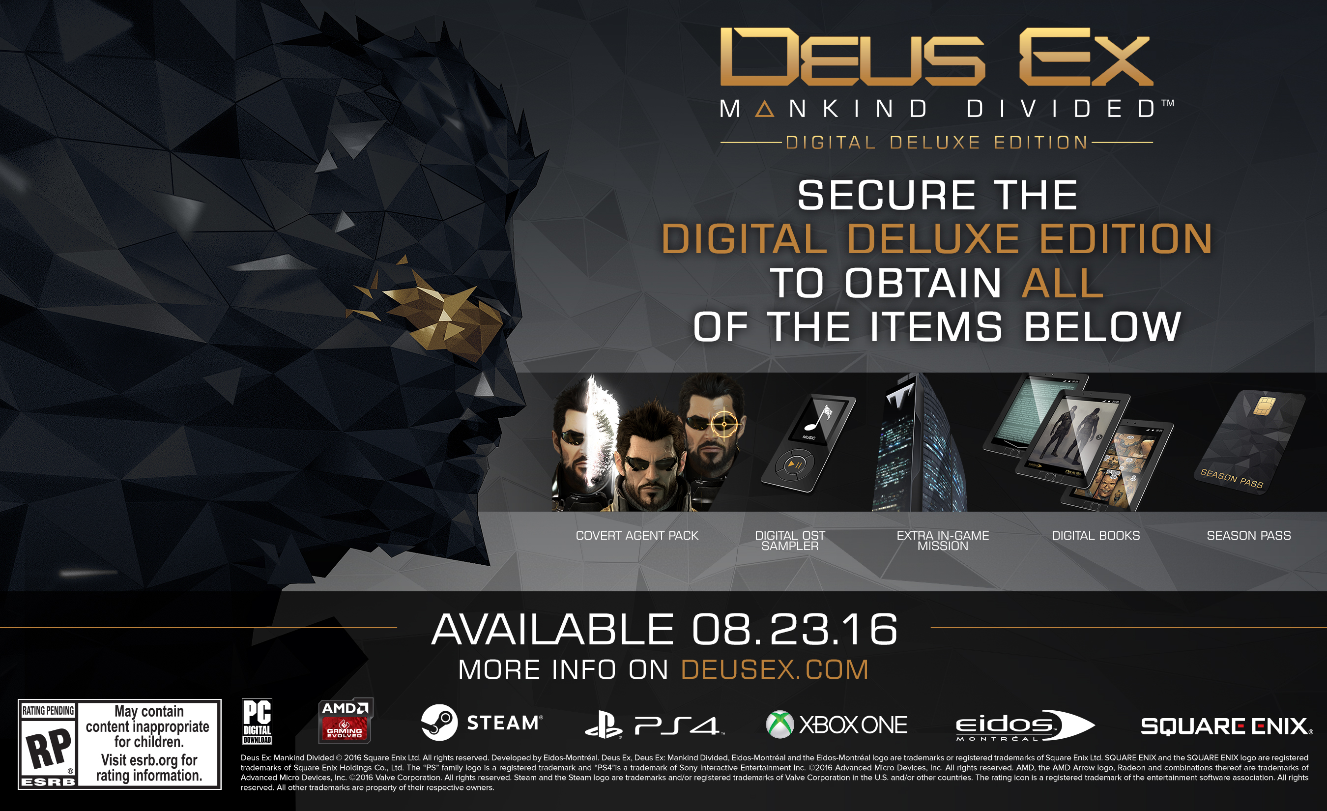 deus ex mankind divided download size pc