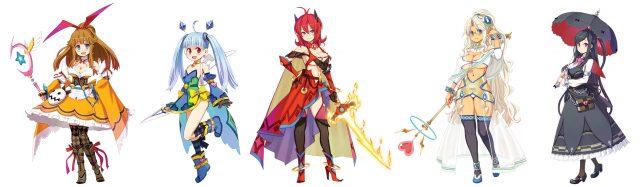 MeiQ: Labyrinth of Death Screen Characters