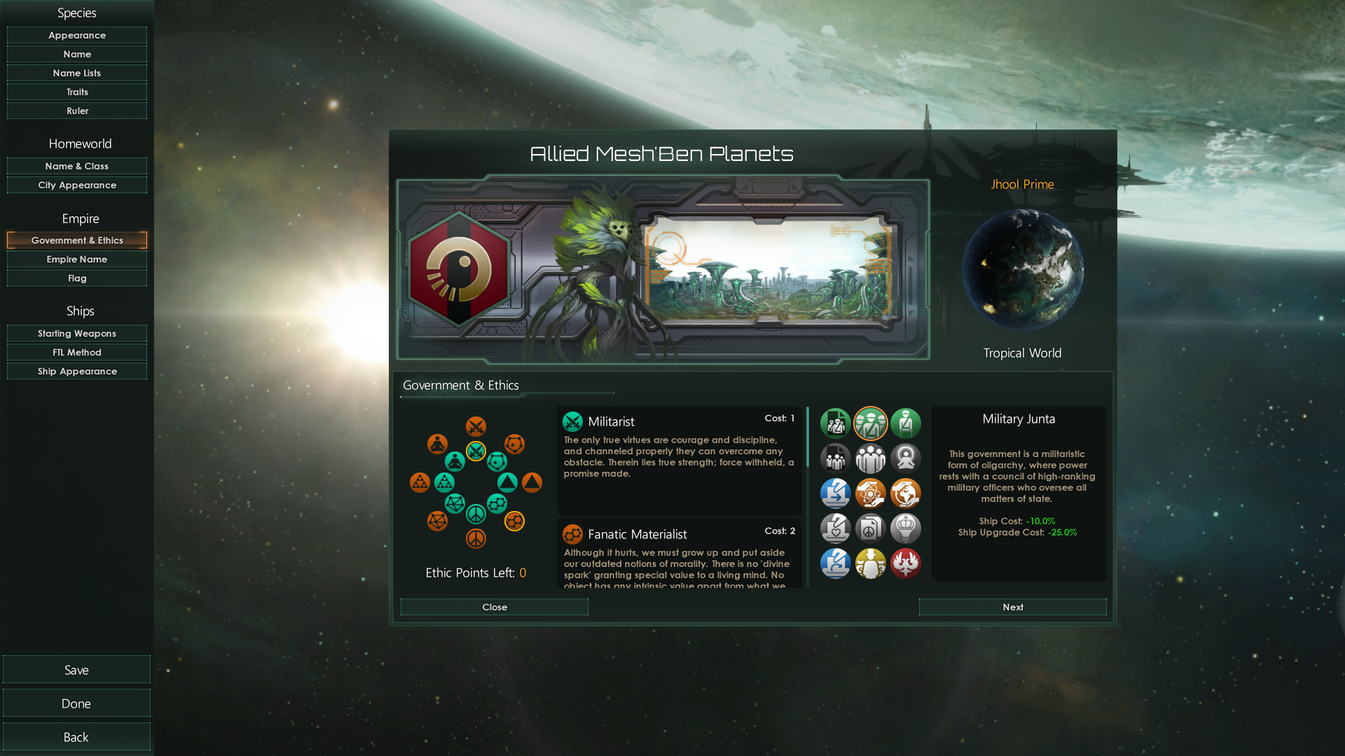 Stellaris Species Design Screenshot