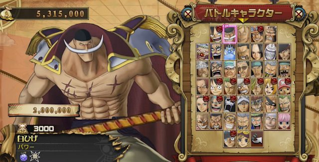 One Piece: Burning Blood Unlockable Characters