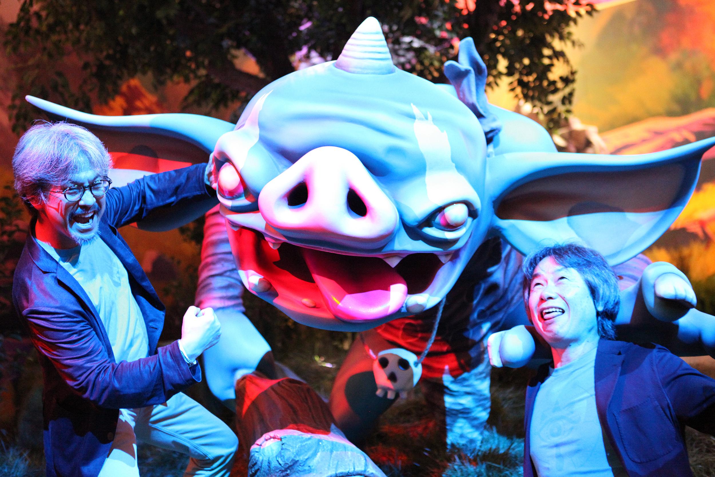Nintendo E3 Booth Aonuma and Miyamoto