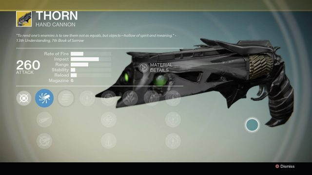Destiny: Rise of Iron Thorn Exotic Hand Cannon