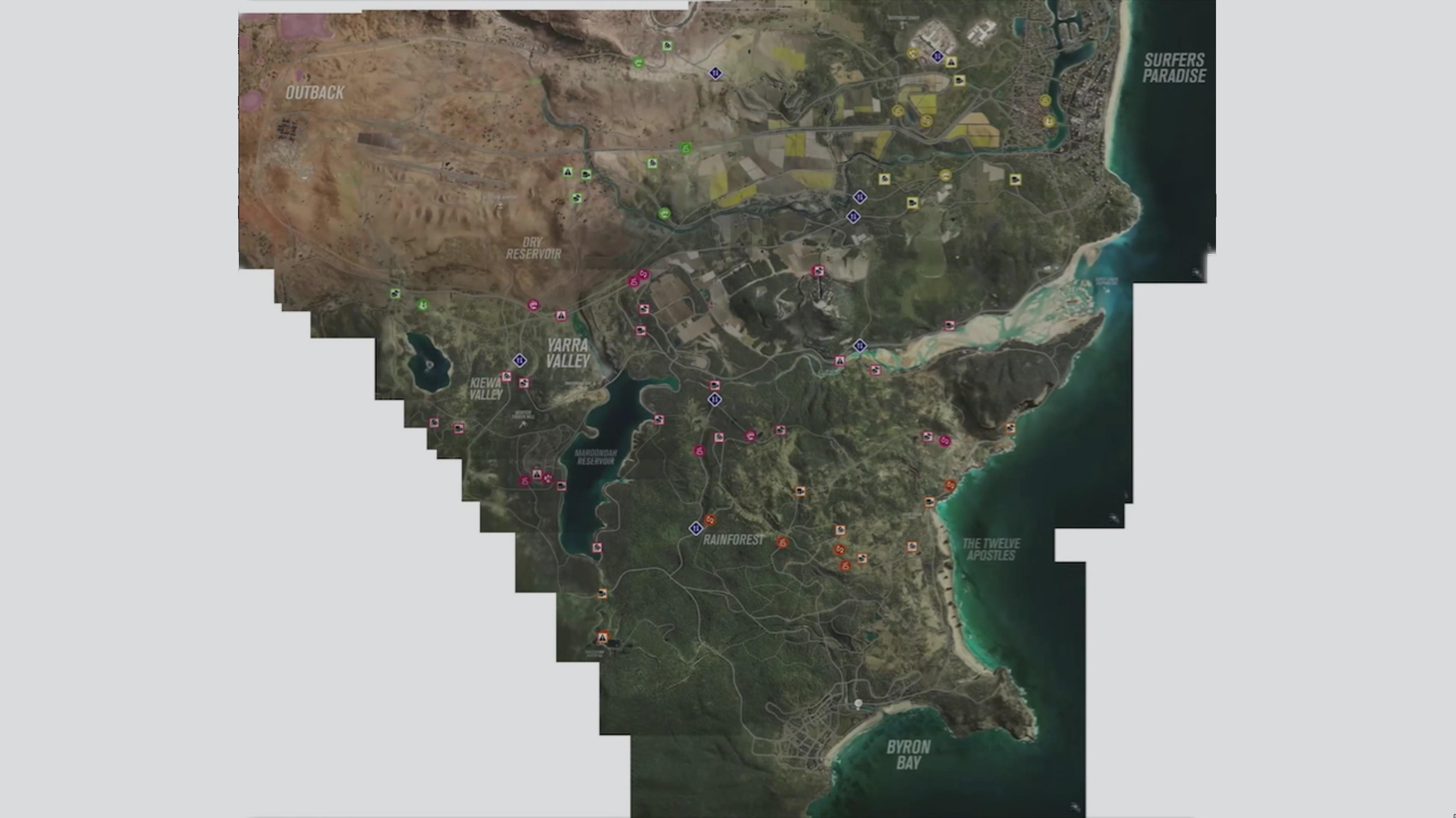 Forza Horizon 3 Barn Finds Map