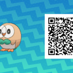 001 Pokemon Sun and Moon Rowlet QR Code