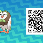 002 Pokemon Sun and Moon Dartrix QR Code