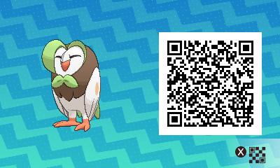002 Pokemon Sun and Moon Dartrix QR Code