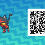 004 Pokemon Sun and Moon Litten QR Code