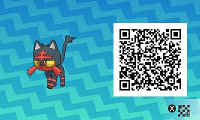 004 Pokemon Sun and Moon Litten QR Code