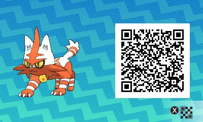 005 Pokemon Sun and Moon Shiny Torracat QR Code