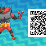 006 Pokemon Sun and Moon Incineroar QR Code