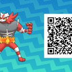 006 Pokemon Sun and Moon Shiny Incineroar QR Code