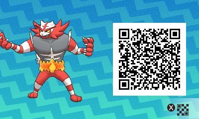 006 Pokemon Sun and Moon Shiny Incineroar QR Code