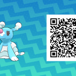 008 Pokemon Sun and Moon Brionne QR Code