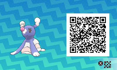 008 Pokemon Sun and Moon Shiny Brionne QR Code