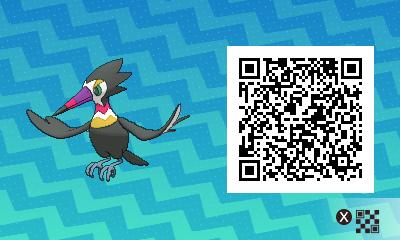 011 Pokemon Sun and Moon Shiny Trumbeak QR Code