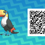 012 Pokemon Sun and Moon Toucannon QR Code