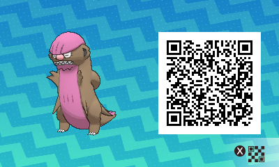 014 Pokemon Sun and Moon Shiny Gumshoos QR Code