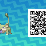 015 Pokemon Sun and Moon Shiny Male Rattata QR Code