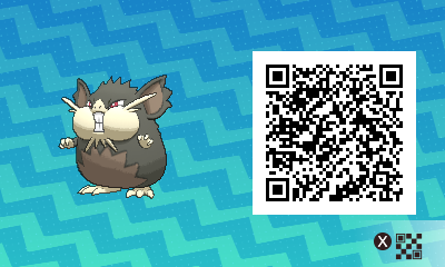 016 Pokemon Sun and Moon Alolan Raticate QR Code