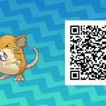 016 Pokemon Sun and Moon Male Raticate QR Code