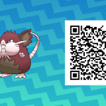 016 Pokemon Sun and Moon Shiny Alolan Raticate QR Code