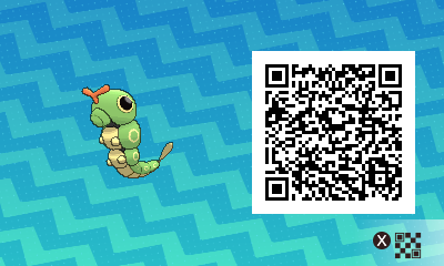 017 Pokemon Sun and Moon Caterpie QR Code