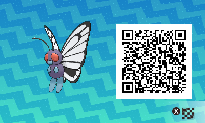 019 Pokemon Sun and Moon Female Butterfree QR Code