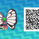 019 Pokemon Sun and Moon Shiny Female Butterfree QR Code