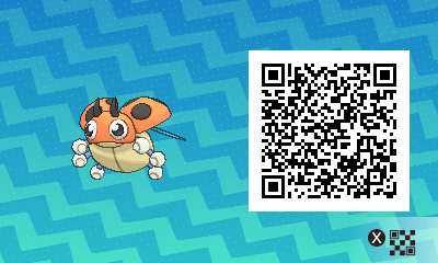 020 Pokemon Sun and Moon Female Ledyba QR Code