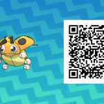 020 Pokemon Sun and Moon Shiny Female Ledyba QR Code