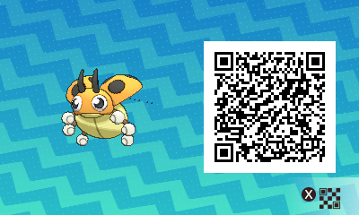 020 Pokemon Sun and Moon Shiny Male Ledyba QR Code