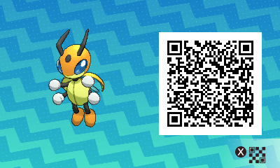 021 Pokemon Sun and Moon Shiny Male Ledian QR Code