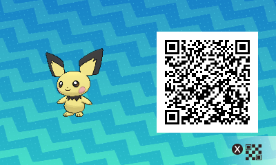 024 Pokemon Sun and Moon Pichu QR Code
