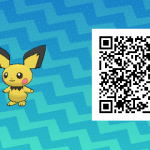 024 Pokemon Sun and Moon Shiny Pichu QR Code