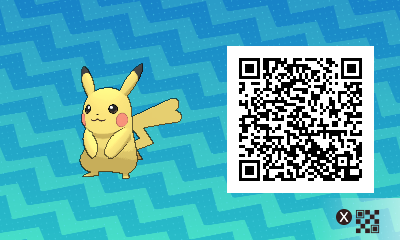025 Pokemon Sun and Moon Female Pikachu QR Code