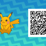 025 Pokemon Sun and Moon Shiny Female Pikachu QR Code