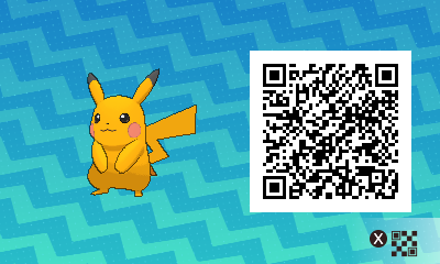 025 Pokemon Sun and Moon Shiny Male Pikachu QR Code