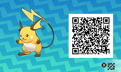 026 Pokemon Sun and Moon Female Raichu QR Code