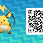 026 Pokemon Sun and Moon Male Raichu QR Code