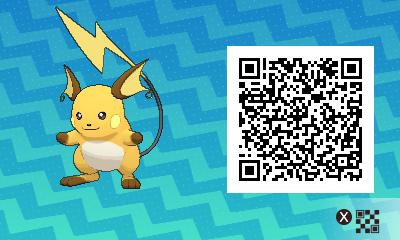 026 Pokemon Sun and Moon Male Raichu QR Code