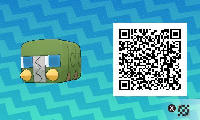 028 Pokemon Sun and Moon Charjabug QR Code