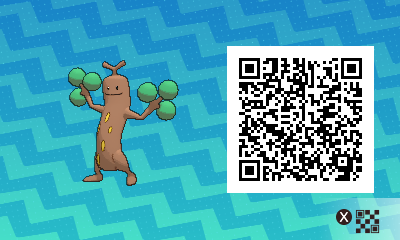 031 Pokemon Sun and Moon Female Sudowoodo QR Code
