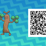 031 Pokemon Sun and Moon Male Sudowoodo QR Code