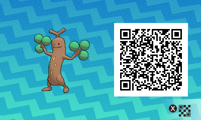 031 Pokemon Sun and Moon Male Sudowoodo QR Code
