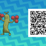 031 Pokemon Sun and Moon Shiny Female Sudowoodo QR Code