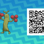 031 Pokemon Sun and Moon Shiny Male Sudowoodo QR Code