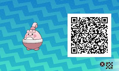 032 Pokemon Sun and Moon Happiny QR Code