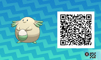 033 Pokemon Sun and Moon Shiny Chansey QR Code